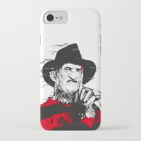 freddy krueger iPhone & iPod Cases featuring Freddy by Akyanyme