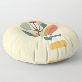Potted plant with a bird Floor Pillow