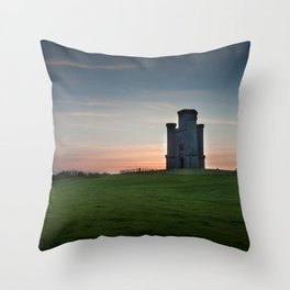 Sunset at Paxton's Tower Throw Pillow