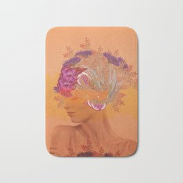Woman in flowers III Bath Mat