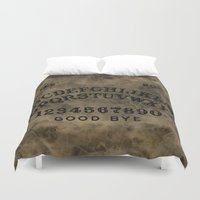 ouija Duvet Covers featuring Ouija by Andrea Raths