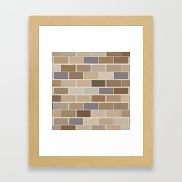 Kinda Brickish Framed Art Print