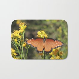 Queen Butterfly on Rubber Rabbitbrush in Claremont CA Bath Mat