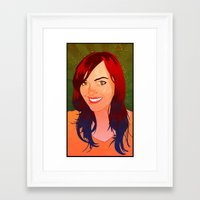 allyson johnson Framed Art Prints featuring Allyson by Pat Guarino