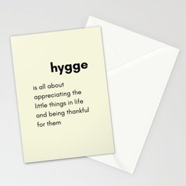 Hygge - Appreciating the little things in life Stationery Cards