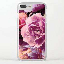 Vintage violet roses (2) Clear iPhone Case