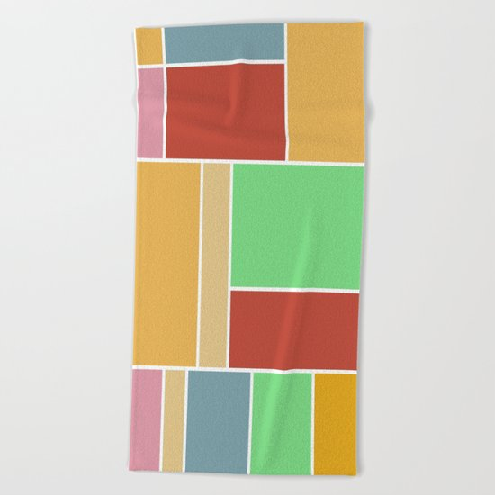 Abstract #347 60's Color Palette Beach Towel
