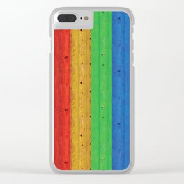 Colours Of The Rainbow Clear iPhone Case