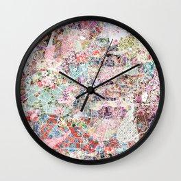 Manchester map Wall Clock