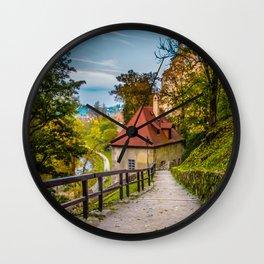 Cesky Krumlov Path Wall Clock