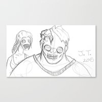 zombies Canvas Prints featuring Zombies by Patrick McCabe