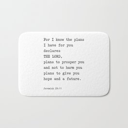 Jeremiah 29:11, For I Know The Plans I have for you Bath Mat
