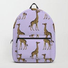 Purple Giraffes Pattern Backpack