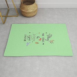 Hunger Game quality calligraphy - green Rug