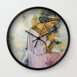 Praying Angel Wall Clock