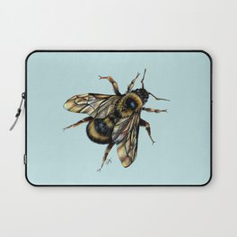 Realistic Bumble Bee Drawing Laptop Sleeve
