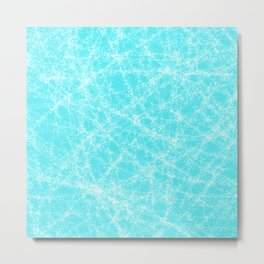 Robin Egg Blue Pattern Metal Print
