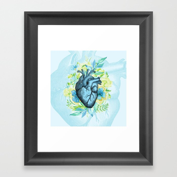 Rest Your Heart Here, Dear Framed Art Print