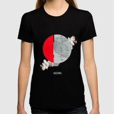Ascend. MEDIUM Womens Fitted Tee Black