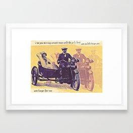 Forget You, Good Sir Framed Art Print