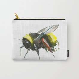 Bumblebee, minimalist bee honey making art, design black yellow Carry-All Pouch