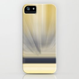 Charcoal Grey Yellow Abstract iPhone Case