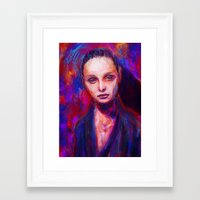 cyarin Framed Art Prints featuring Sad eyes by Gyossaith