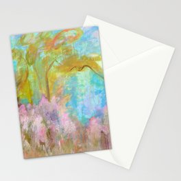 As Beautiful As The Day Is Long, Abstract Landscape Stationery Cards