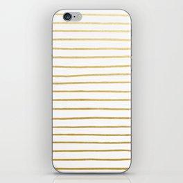 Gold Paris Stripe Pattern iPhone Skin