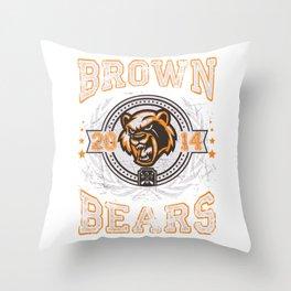 Brown Bears Throw Pillow