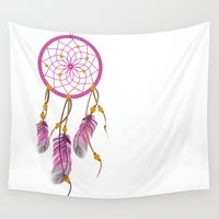 dreamcatcher Wall Tapestries featuring Dreamcatcher by Fairytale ink