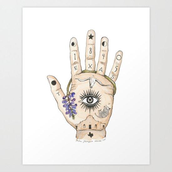 Texas Palmistry Art Print