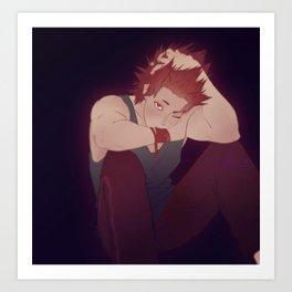 Tired Kirishima Art Print