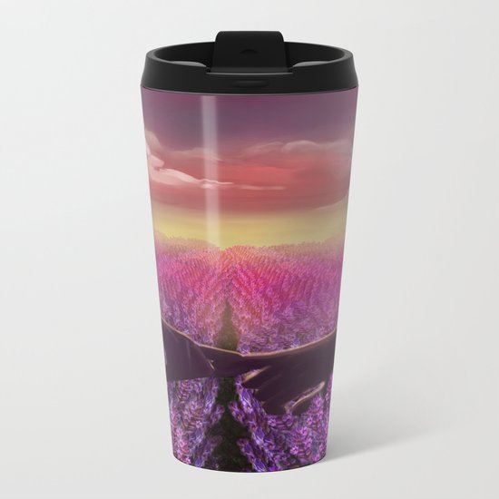 Holding Hands Metal Travel Mug