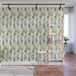 Irises 1 | Iris Flowers | Vintage Floral Pattern | Flower Patterns | Wall Mural