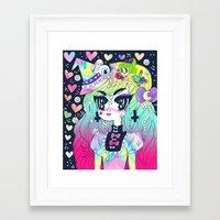 goth Framed Art Prints featuring Confetti Goth by prism0lly