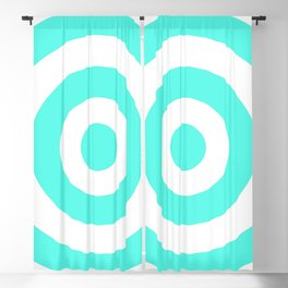 Target (Turquoise & White Pattern) Blackout Curtain