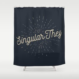 Singular They - Mellow Shower Curtain