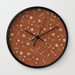Thistle in Autumn Wall Clock