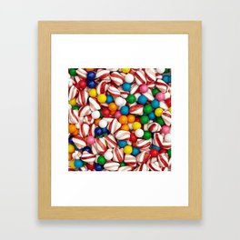 Peppermints and Gumballs Framed Art Print