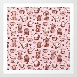 Percolator Pink Art Print
