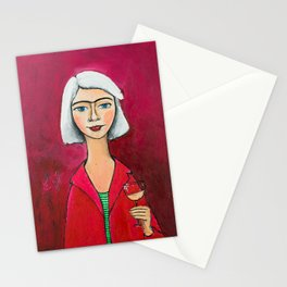 I F***ing love wine! Stationery Cards