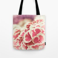 hydrangea Tote Bags featuring Hydrangea by Julia Tomova