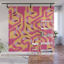 Flamingo Maze Wall Mural