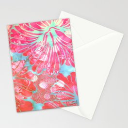 Blue Water Hibiscus Snowfall Stationery Cards