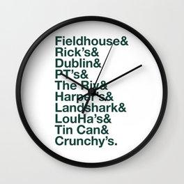 Bars of East Lansing Wall Clock