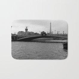 Eiffel tower and bridge, Paris, France Bath Mat