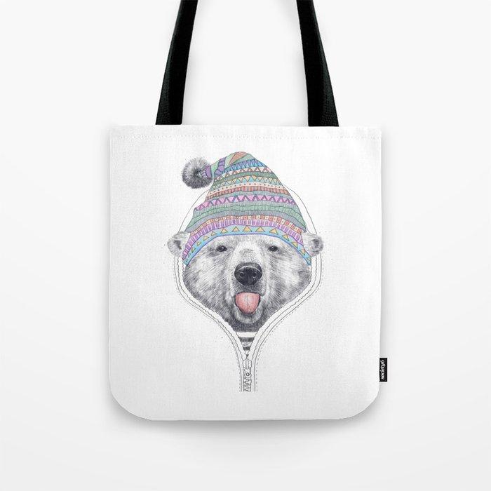 The Bear in a hood Tote Bag