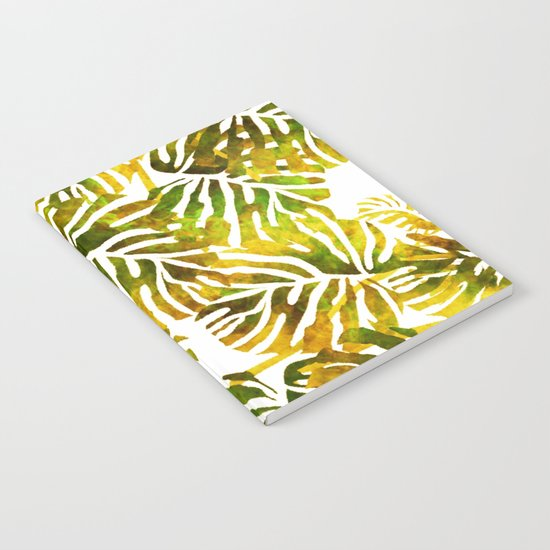 Sunset Tropical Leaves Abstract Notebook