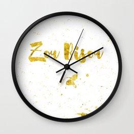 Zou bisou Wall Clock